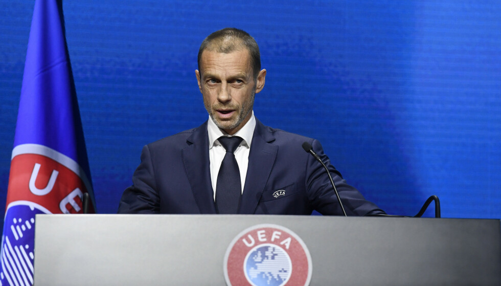 Frode: il presidente UEFA Alexander Ceferin.  Foto: Richard Juilliart / AP / NTB