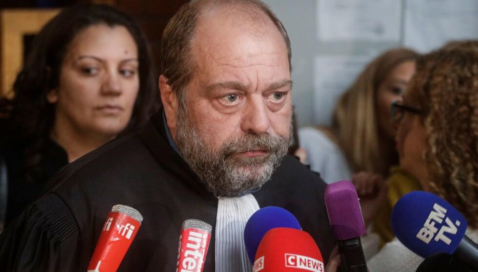 TIDLIGERE FORSVARER: Éric Dupond-Moretti forsvarte Tron under rettssaken i 2018. Nå er han Frankrikes justisminister. Foto: Geoffroy van der Hasselt / AFP / NTB