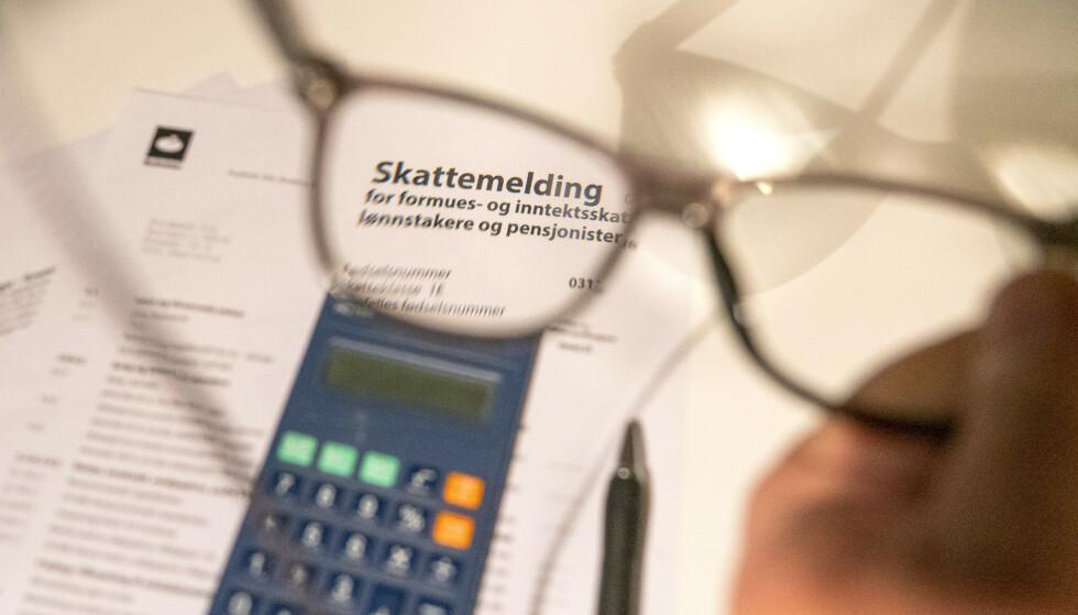 FULL SJEKK: Det er fortsatt tid til å gå gjennom skattemeldingen på jakt etter fradrag. Foto: Terje Pedersen/NTB scanpix