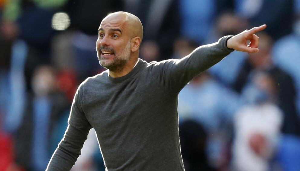 HISTORISK: Pep Gardiola har ledet Manchester City til sitt fjerde ligagull på rad. Foto: NTB