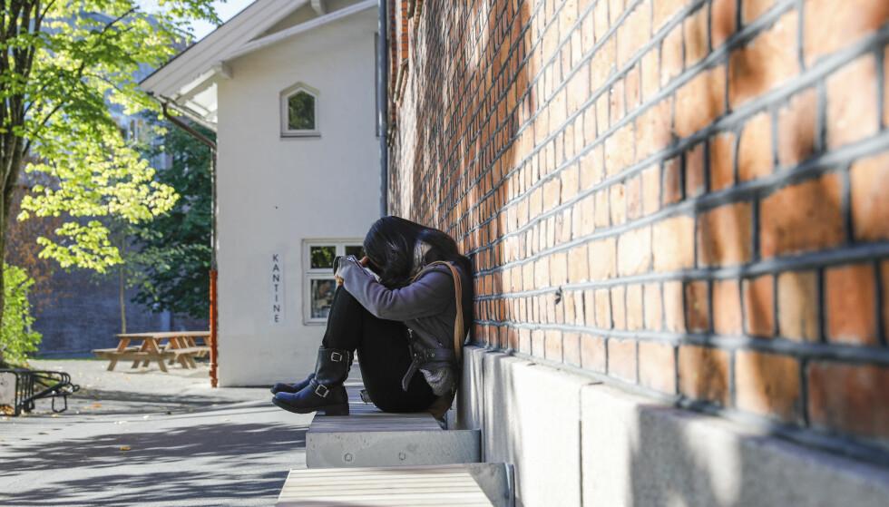 ENSOMME: Ensomheten blant studentene har økt kraftig. Foto: Wilma Nora Dorthellinger Nygaard / NTB