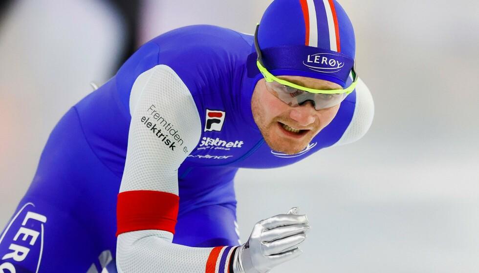 Hunting Gold: Sverre Lunde Peterson is hier tijdens de Europese kampioenschappen in Hirenwen.  (Foto door Vincent Janink / ANP / AFP) / Nederland OUT