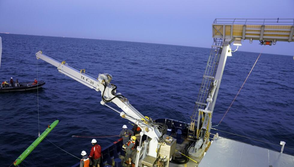 EKKOLODD: Forskere har brukt ekkolodd for å undersøke det store havområdet. Foto: Scripps Institution of Oceanography at UC San Diego / AP / NTB