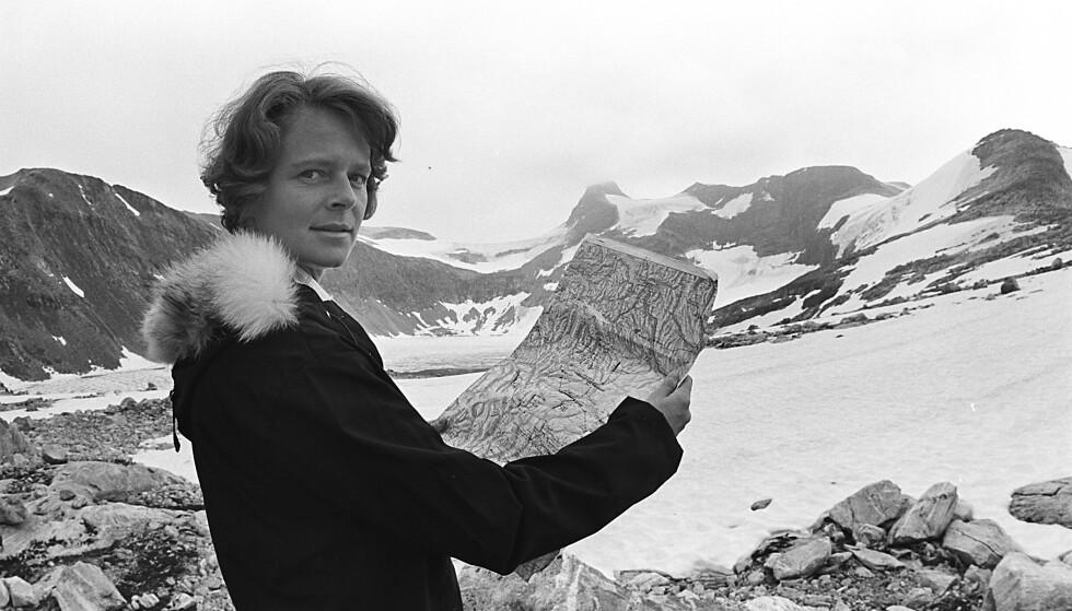 JOTUNHEIMEN: Daværende miljøvernminister Gro Harlem Brundtland på befaring i forbindelse med kraftutbyggingen i Jotunheimen. Foto: Johan Brun