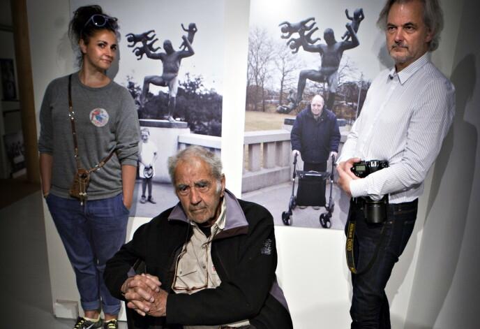 OSLO 2013: Famiefotografene Brun: Agnete, Morten og pappa Johan Brun med fotoutstillingen «Livsløp». Foto: Anders Grnneberg