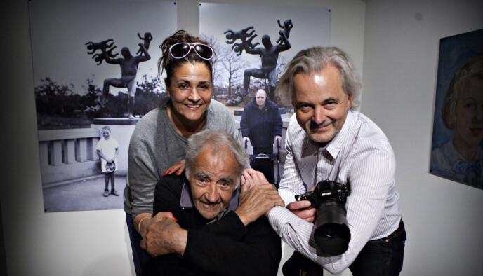 OSLO 2013: Famiefotografene Brun, Agnete, Morten og pappa Johan Brun med fotoutstillingen «Livsløp». Foto: Anders Grnneberg