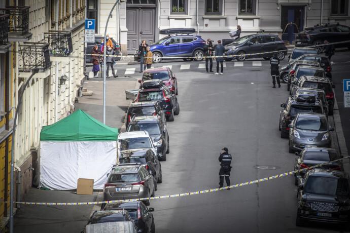 DØDE: Kvinne ble skutt og drept på Frogner onsdag morgen. Foto: Bjørn Langsem / Dagbladet