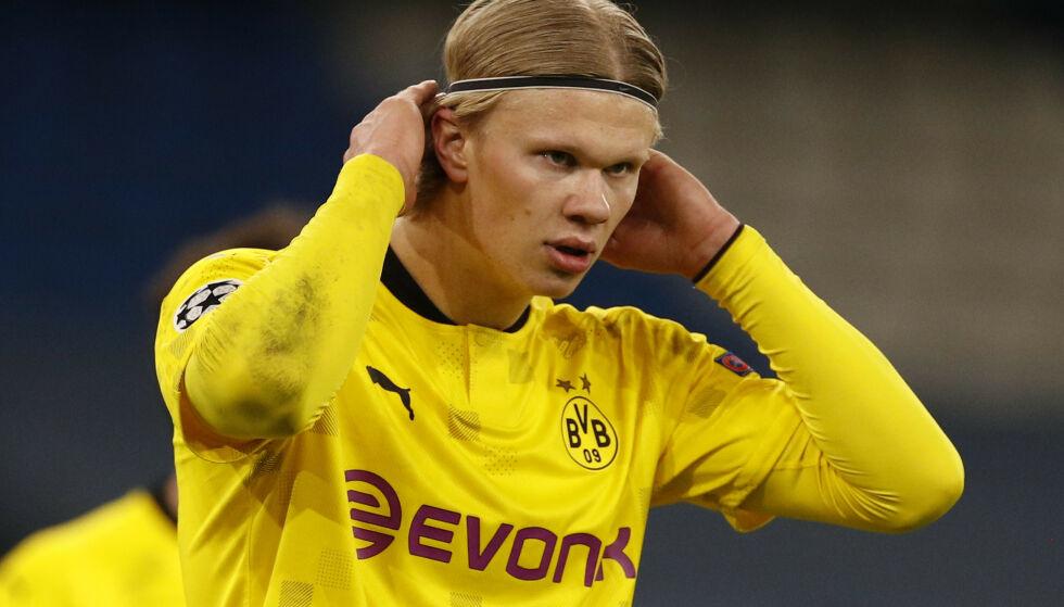 GOD MULIGHET: Dortmund har ikke vunnet noe siden 2017, det kan fort Erling Braut Haaland endre på. Her fra oppgjøret mot Werder Bremen tidligere i april. Foto: Phil Noble/Reuters