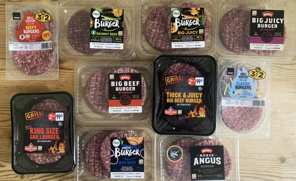 BURGERFEST: Big, juicy, beefy ... de ser kanskje ganske like ut, men det er stor forskjell på hvor godt de smaker.