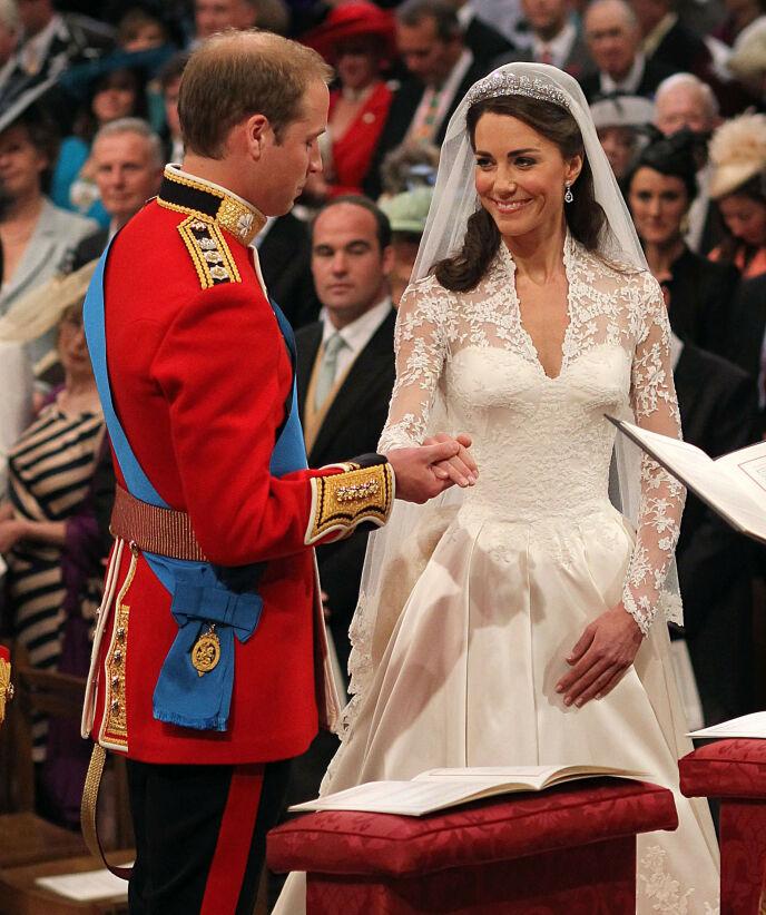 JA!: William og Kate under vielsen i Westminster Abbey 29. april 2011. Foto: REX/ NTB