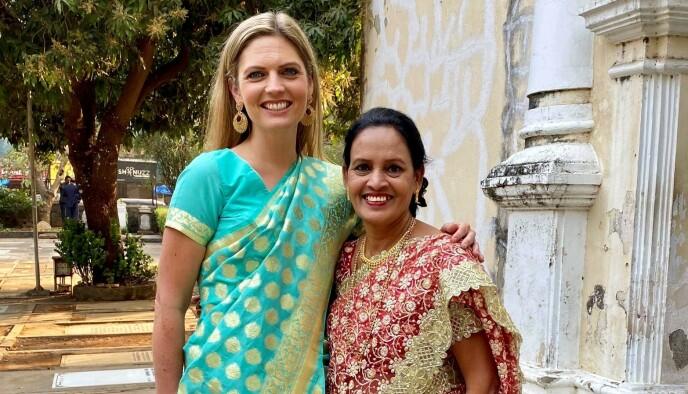 JOBBET I INDIA: Kristine Anvik Leach jobbet som Managing Director for Jotun i Mumbai i India i 3,5 år, hvor hun var leder for over 400 ansatte. I slutten av februar i år flyttet hun hjem til Norge og Larvik. Foto: Privat