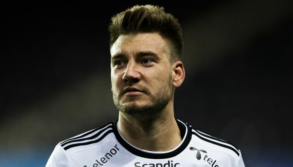 STJERNE: Nicklas Bendtner spilte i Rosenborg fra 2017 til 2019. Foto: Ole Martin Wold / NTB