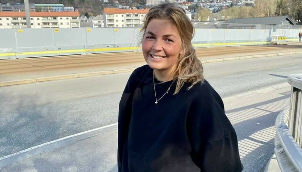 SÅ DRØMMEMANNEN: Karoline Dragsund fikk øye på en mann som virkelig fanget oppmerksomheten hennes, og hun håper at han vil finne henne igjen. Foto: Privat