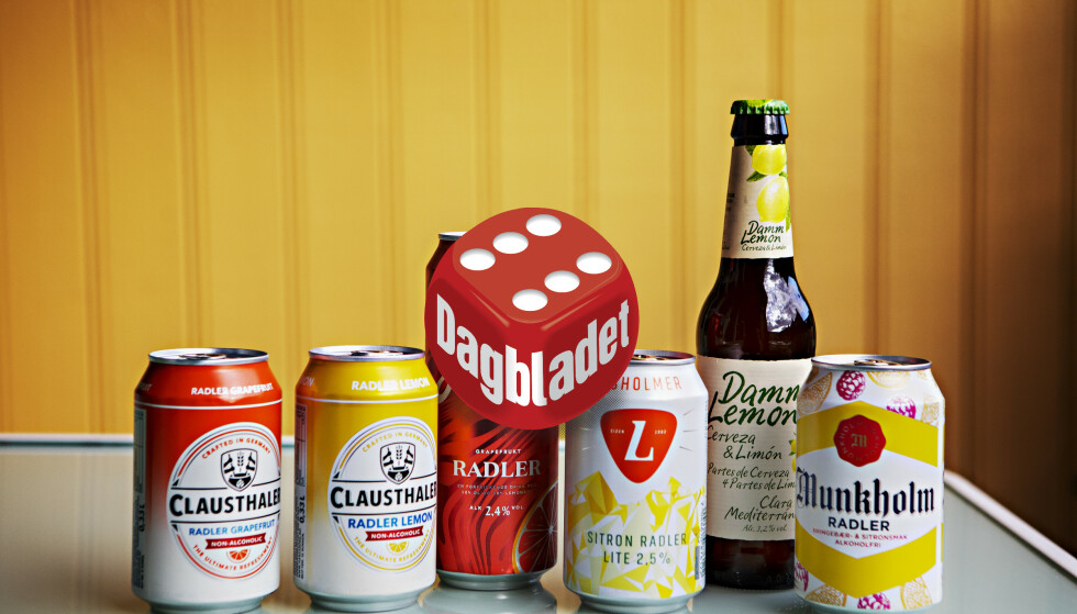 ØL+BRUS=SANT: Leskende, forfriskende, søtt og med voksensmak. Vi har testet radler og clara, en blanding av øl og brus. Foto: Frank Karlsen / Dagbladet