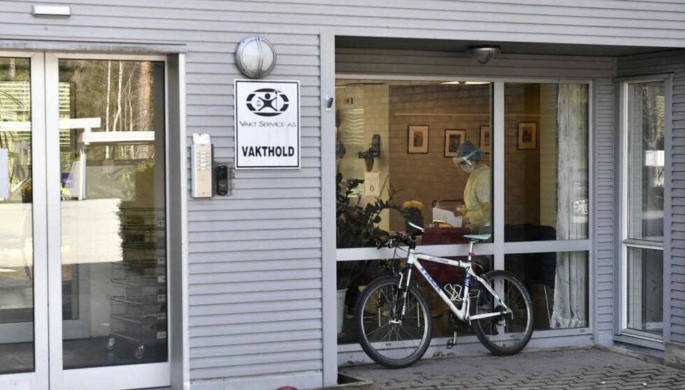 MANGE SMITTET: På Gystadmyr Bo- og aktivitetssenter på Jessheim i Ullensaker kommune, ble flere beboere smittet av coronaviruset tidligere i april - til tross for at de var fullvaksinerte. Foto: Lars Eivind Bones / Dagbladet