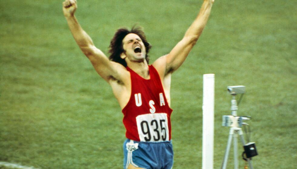 VANT OL: Bruce Jenner vant mennenes tikamp under OL i Montreal i 1976. Foto: Colorsport/REX