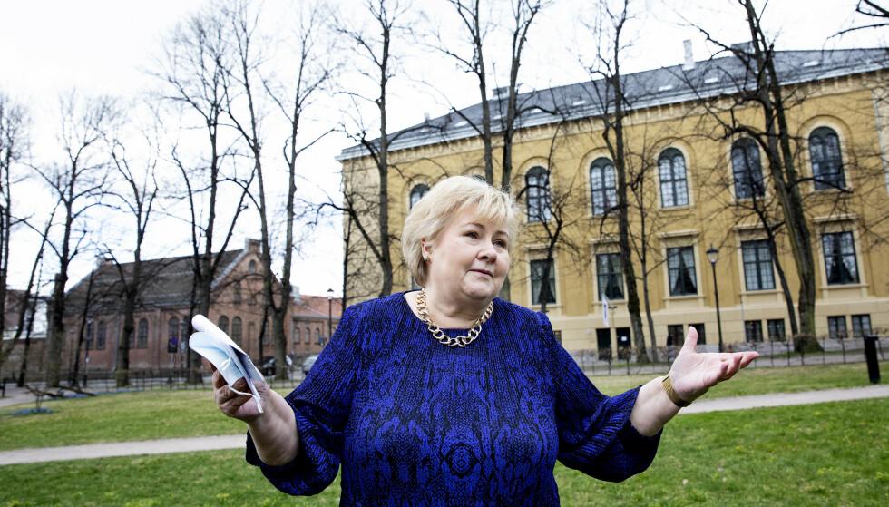 ENGASJERT: Statsminister Erna Solberg har selv vært med å utforme partiets nye ruspolitikk. Hun tror avkriminalisering av mindre mengder narkotika til eget bruk blir gjennomført i neste stortingsperiode. Foto: Kristin Svorte / Dagbladet