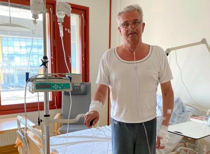 PÅ BEDRINGENS VEI: Malmgren på Skånes universitetssjukhus. Foto: Privat