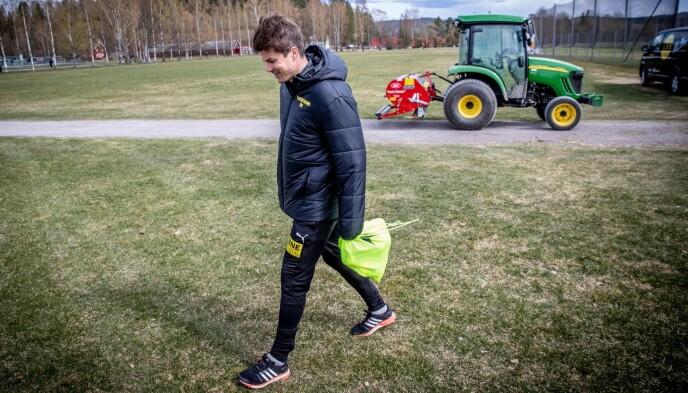 GLEDER SEG: Pål André Helland og Lillestrøm teller ned til sesongstarten mot Strømsgodset. Foto: Bjørn Langsem