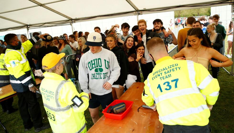 KØ: 5000 personer hadde billett til en helaften med musikk, mat og drikke. Foto: NTB