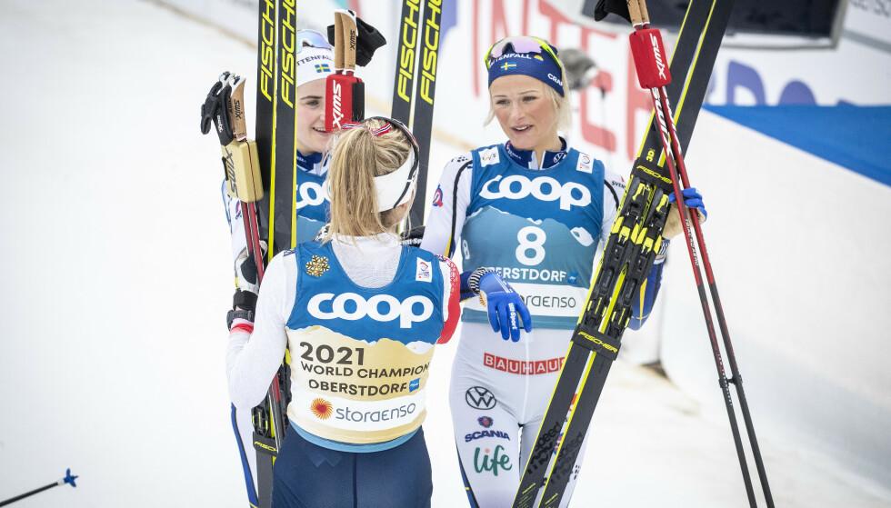 TAR GREP: Det svenske landslaget tar grep foran neste sesong etter ønske fra Frida Karlsson. Foto: Bjørn Langsem / Dagbladet