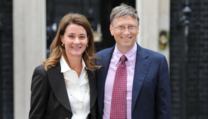 SKILLES: Melinda og Bill Gates skilles etter 27 år. Det bekreftet paret mandag. Foto: Alan Davidson / REX (