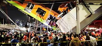 T-bane styrtet i bakken etter brokollaps