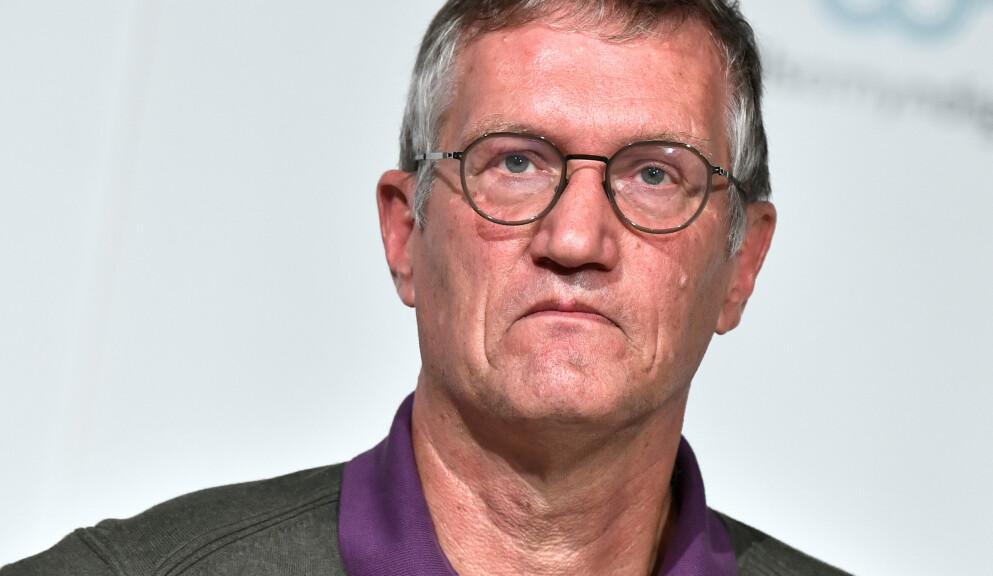 FRONTFIGUR: Statsepidemolog Anders Tegnell har markert seg med sin strategi for å holde samfunnet åpent under pandemien. Foto: NTB