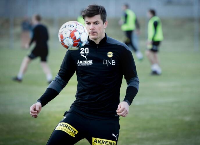 ROSER BENDTNER: Pål André Helland minnes tida til Nicklas Bendtner i Rosenborg med glede. I dag er Helland Lillestrøm-spiller. Foto: Bjørn Langsem
