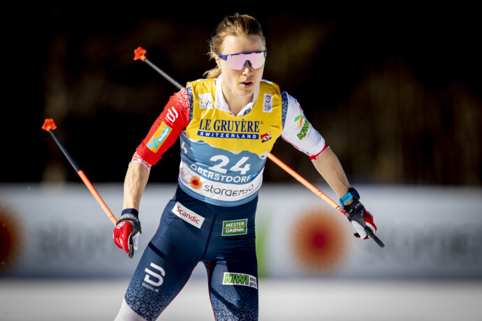 VRAKET: Ragnhild Haga på kvinnenes 10 km fristil under VM på ski i Oberstdorf. Foto: Bjørn Langsem / Dagbladet