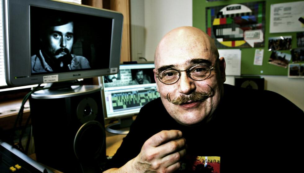 RADIOFANTOM: NRKs Harald Are Lund var radiofantomet som nektet å gi seg. I fjor døde han. Se tv-ruta til venstre: en ung utgave av mannen. Bildet er fra 2006. Foto: Anders Grønneberg