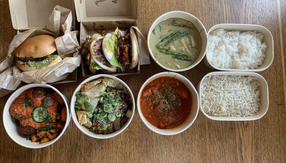TAKE AWAY: Food Society fikk ikke holde åpent særlig lenge, men har fortsatt levert mat fra flere verdenshjørner under lockdown. Foto: Elisabeth Dalseg