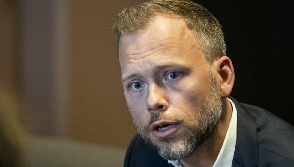 - PINLIG: Norge under Erna Solberg har ikke lenger noen lederrolle for internasjonal solidaritet, sier SV-leder Audun Lysbakken. Foto: Terje Pedersen / NTB