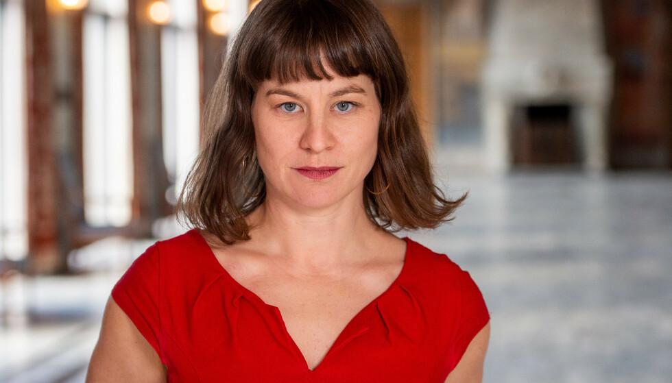 BYRÅD: Rina Mariann Hansen forteller om hvordan byrådet følger utviklingen av mennesker i økonomisk knipe i Oslo kommune. Foto: Oslo kommune
