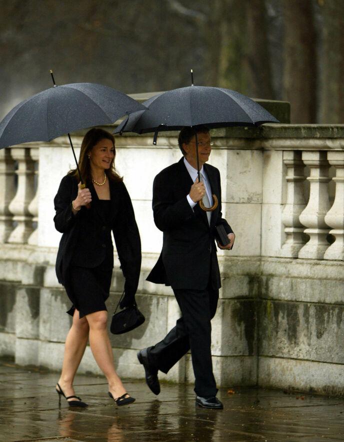 KROKEN PÅ DØRA: Bill og Melinda Gates skal nå skilles, etter 34 år sammen. Foto: Adrian Dennis / AFP Photo / NTB