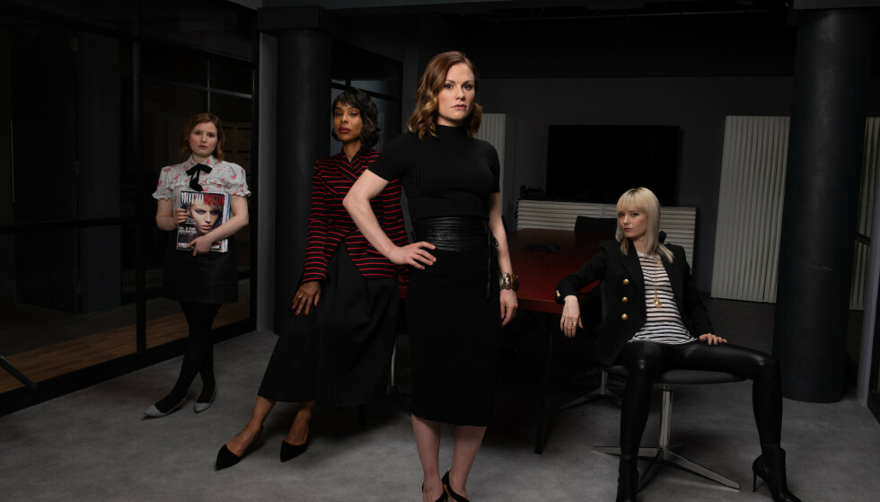 «FLACK»: Anna Paquin leder an i serien om en gjeng mer eller mindre dårlige mennesker som lager god PR. Foto: TV 2 SUMO.