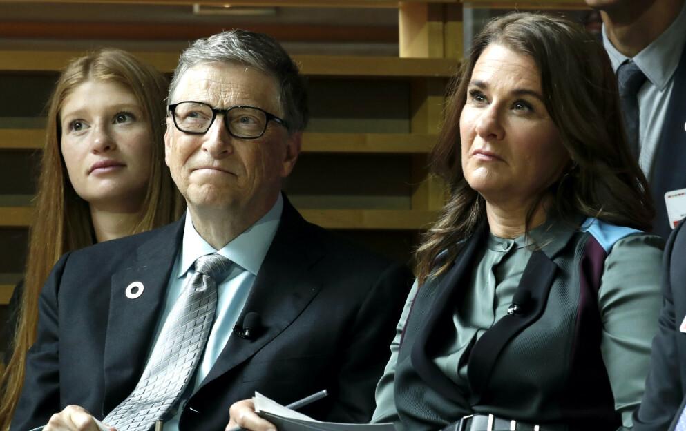 SKILLES: Bill og Melinda Gates skilles etter 27 år som ektepar. Nå har det blusset opp flere overraskende detaljer fra livet deres sammen. Foto: Julio Cortez / AP Photo / NTB