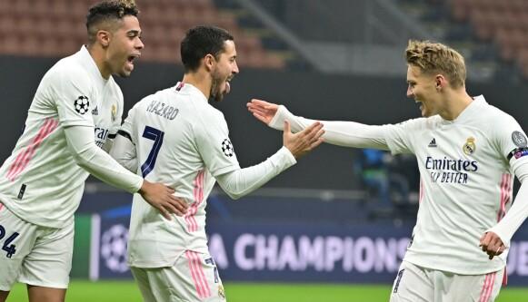 INN OG UT: Eden Hazard skal være til salgs, mens Martin Ødegaard skal ha imponert Real Madrid. FOTO: MIGUEL MEDINA / AFP)