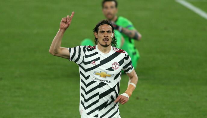 TOMÅLSSCORER: Edinson Cavani scoret to mot Roma. Foto: NTB Scanpix