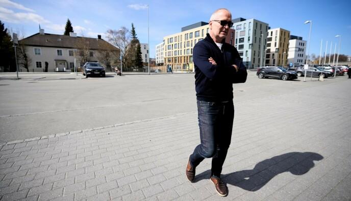 ENGASJERT: Dagbladet møter Gøran Sørloth utenfor Lerkendal. Foto: Ole Martin Wold