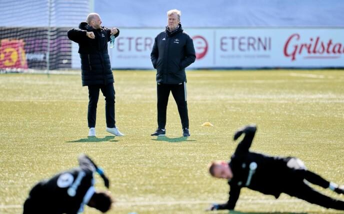 DISIPLIN: Rosenborg har lagt bak seg en tøff treningsvinter. - Testene viser at spillerne har større kapasitet enn før, sier Åge Hareide. Foto: Ole Martin Wold