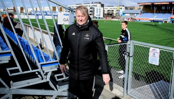 SISTE FORBEREDELSER: Rosenborg har trent på Ranheim den siste tida. Årsaken er at det legges nytt kunstgress på treningsanlegget på Lerkendal. Foto: Ole Martin Wold