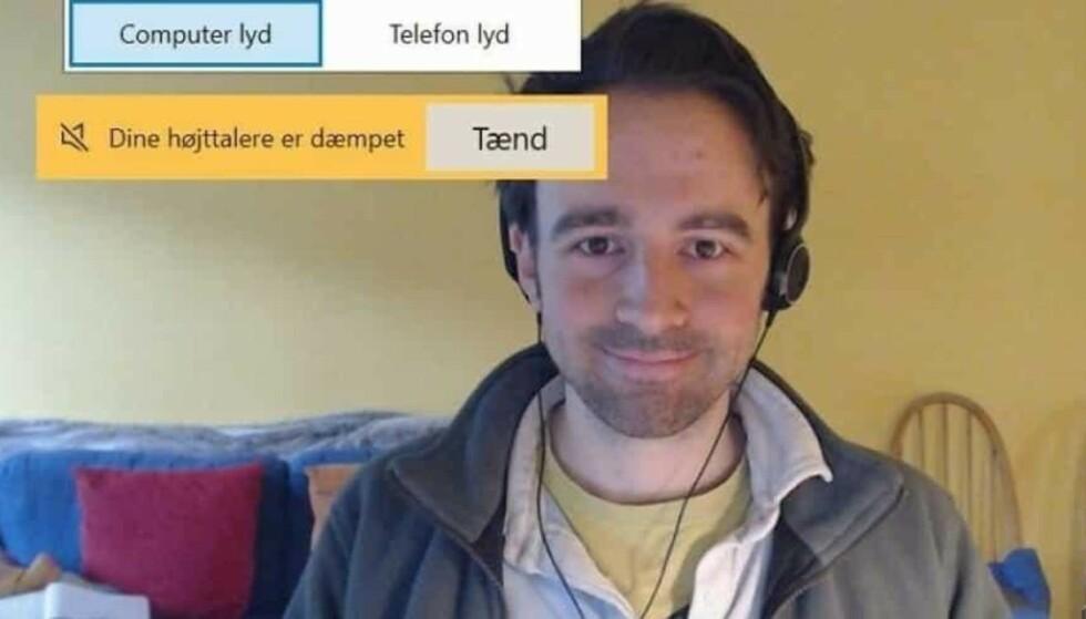 HVEM?: Bildet av den mørkhårede mannen har fått mange til å lure. Foto: Odder kommune