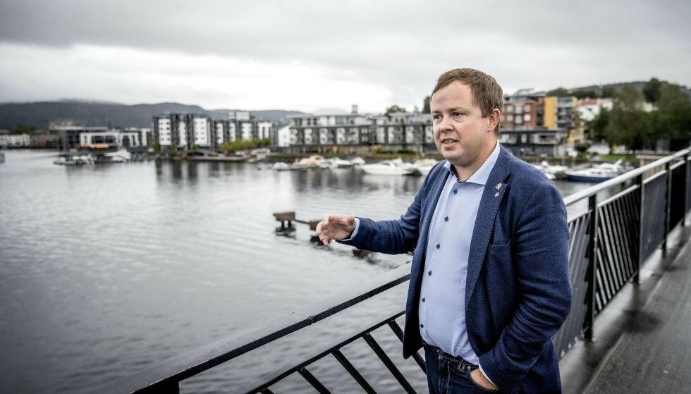 GLAD: Ordfører i Porsgrunn, Robin Kåss, er glad for at staten nå kommer på banen i Grenland. Foto: Bjørn Langsem / Dagbladet