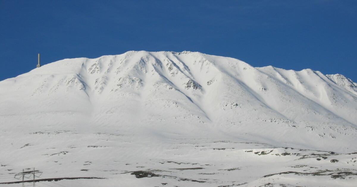 Større snøskred ved Gaustatoppen
