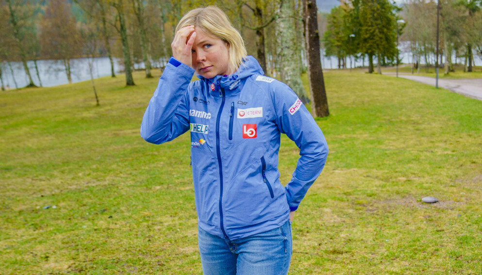 STJERNE: Maren Lundby var blant utøverne som ble presentert på Sognsvann i Oslo mandag. Foto: Stian Lysberg Solum / NTB