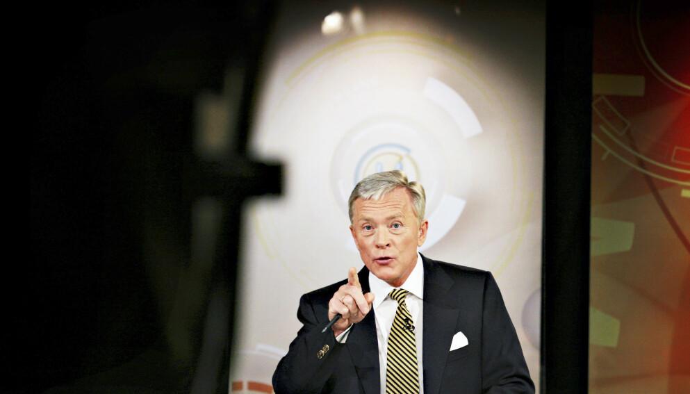 LEDET VALGSENDINGENE: Oddvar Stenstrøm ledet valgsendingene for TV 2 da han arbeidet for kanalen. Foto: NTB