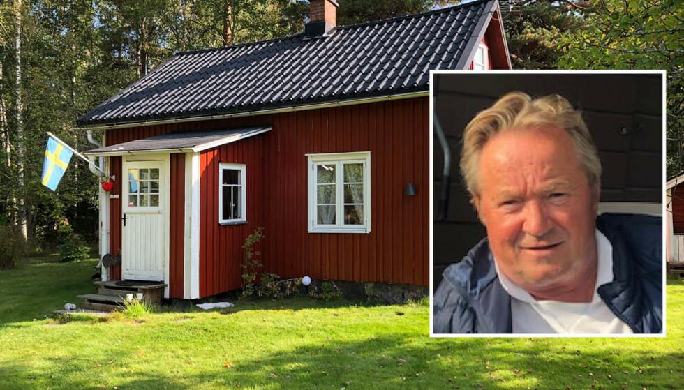 SVENSK FLAGG - NORSKE EIER: Einar Rudaa er talsmann for den nystartede foreningen Norske Torpare for nordmenn med hytte i Sverige. Foto: Privat.