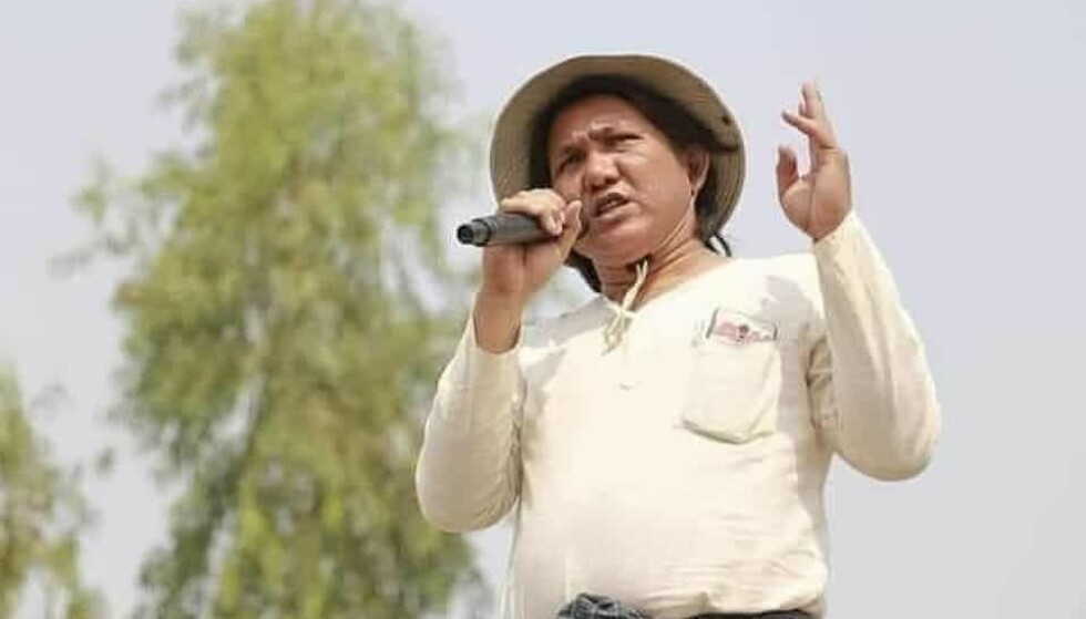 DREPT: Myanmar-dikteren Khet This verker erklærer motstand mot den herskende juntaen. Det kostet ham livet. Foto: Irrawaddy News.