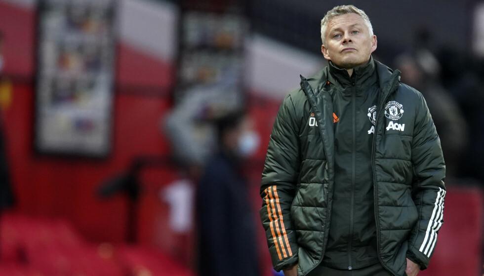 IRRITERT: Ole Gunnar Solskjær stilte med et reservepreget mannskap og tapte mot Leicester. Foto: Reuters